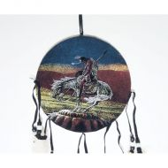 Wounded Indian Warrior on Pony Colorful Dreamcatcher