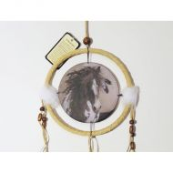 Dreamcatcher Small Wild Spotted Horse Feather in Mane