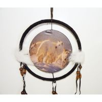 Dreamcatcher Small Pack of White Arctic Wolves in Snow