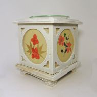 Wood with Floral Panes No. 07 Electric Oil Warmer