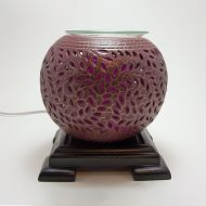 Deep Purple with Gold Accents Electric Oil Tart Warmer