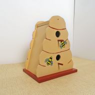 Handcrafted Birdhouse Wood Double Beehive