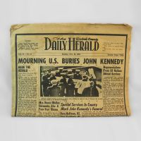 Dubois County Daily Herald 11-25-63 Mourning John Kennedy