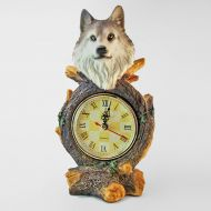 Wolf Head Novelty Table Clock with Roman Numerals