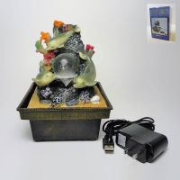 Dolphins Style Dual Powered Mini Indoor Fountain
