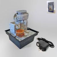 Stone Style Dual Powered Mini Indoor Fountain