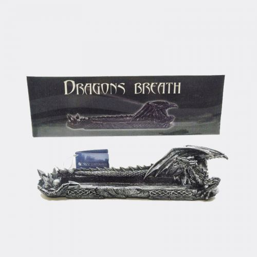 Hissing Dragon with Spiked Tail Incense Burner Holder