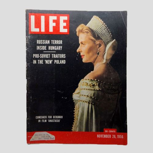 November 26, 1956 Life Magazine - Bergman in film Anastasia