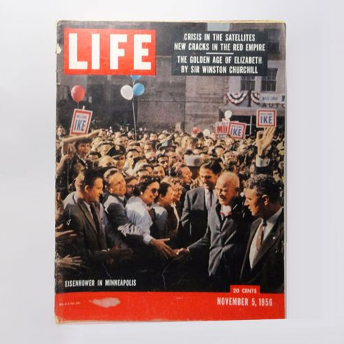 November 5, 1956 Life Magazine - Eisenhower in Minneapolis