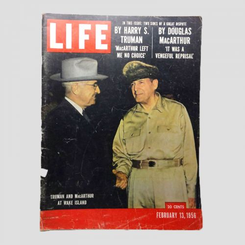 February 13, 1956 Life Magazine - Truman and MacArthur at Wake Island