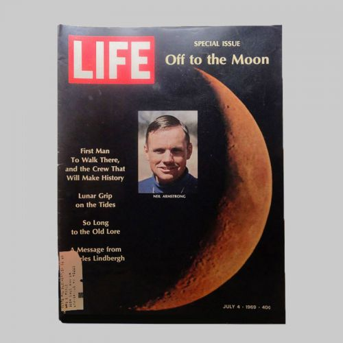 7-4-1969 Life Magazine Neil Armstrong Off to the Moon