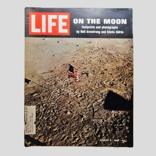 Life Magazine 8-8-1969 American Flag on the Moon