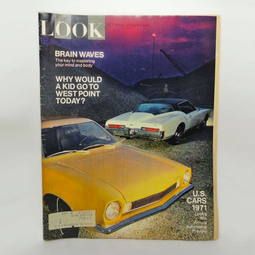10-6-1970 Look Magazine Brain Waves West Point Cars 1971
