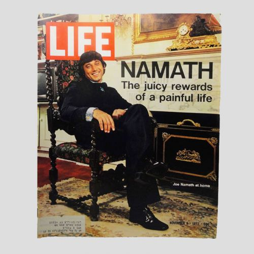 November 3, 1972 Life Magazine - Joe Namath Broadway Joe