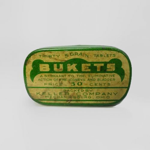 Bukets Kidney and Bladder Metal Two Piece Medicine Tin