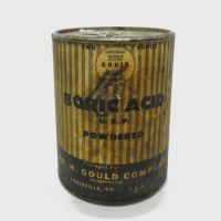 Gould Powdered Boric Acid Metal Canister with Contents