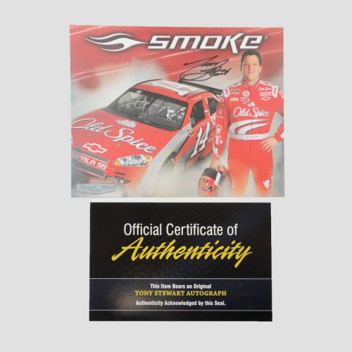 Tony Stewart Autograph Photo Card No. 14 Old Spice COA