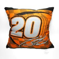 "Nascar Tony Stewart No. 20 Joe Gibbs Home Depot 19"" Pillow"