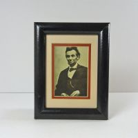Abraham Lincoln Vintage Framed Photo Postcard