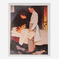 Norman Rockwell Vintage Print Freedom from Fear