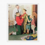 Norman Rockwell Vintage Print titled Mighty Proud