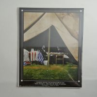 President Lincoln in General McClellan Tent Photo