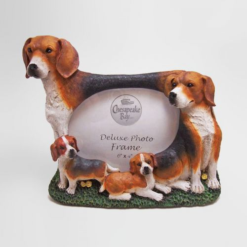Beagle Polyresin Dog Photo Frame 6x4 Picture
