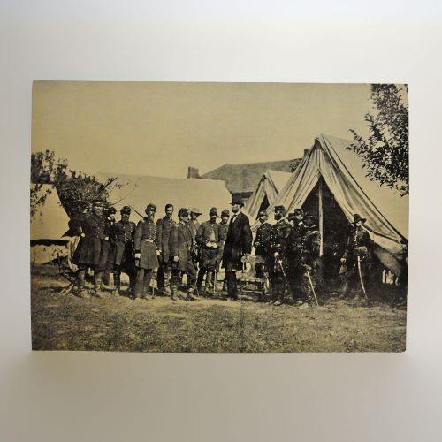 President Lincoln at Antietam 1959 Vintage Photo Postcard