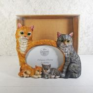 Orange and Gray Cats Photo Frame for One 6x4 Picture