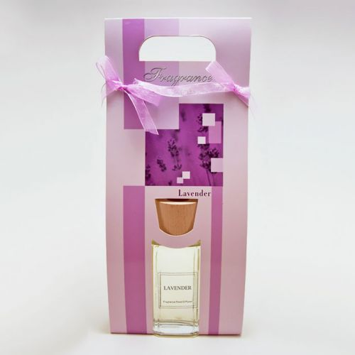 Lavender Oil Reed Diffuser Gift Bag includes Reeds and Oil