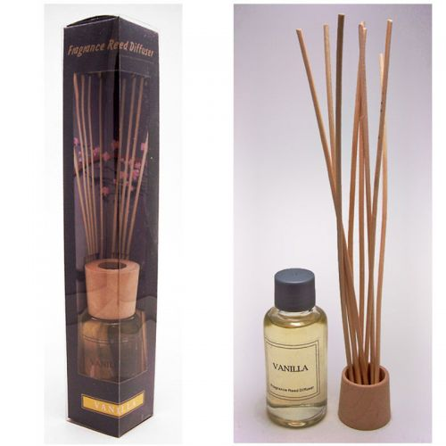 Vanilla Oil Reed Diffuser Box Set includes Reeds and Oil