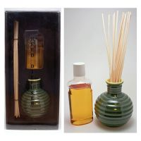 Green Apple Oil Reed Diffuser Set with Reeds and Vase