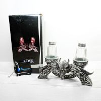 Dragon Figurine Salt and Pepper Shakers Set in Box