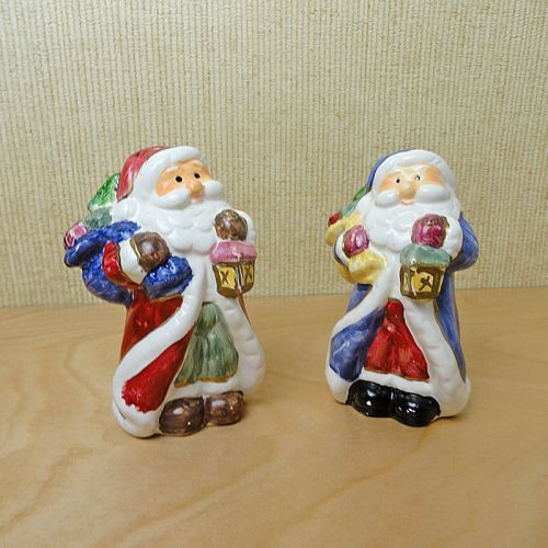 Santa Claus Ceramic Christmas Salt and Pepper Shakers