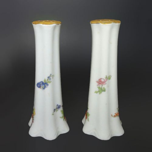 Ceramic Salt and Pepper Shakers with Flower Design