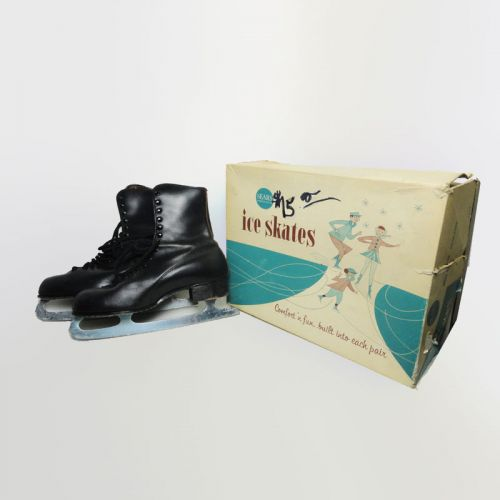 Sears Roebuck Vintage Mens Shoe Ice Skates in Box