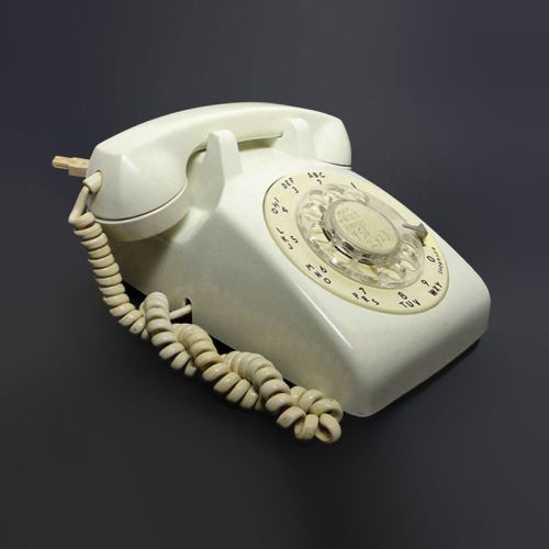 Northern Electric ITT White 1970s Rotary Dial Telephone