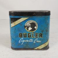 Bugler Cigarette Case Tobacco Tin with Hinged Lid