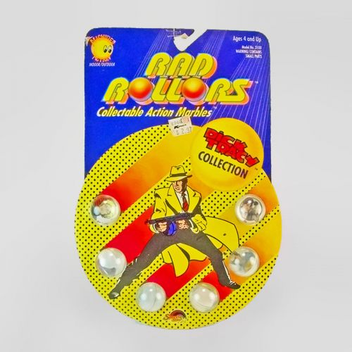 Rad Rollers Vintage 1990 Dick Tracy Collection Collectible Action Marbles